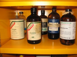 Flammable Cabinet, Chemicical Reagents, Either, Benzene, Xylene, Carbon Disulfide, Flammable